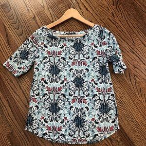 LOFT Vintage Soft Patterned Sleeve T-shirt